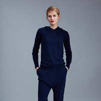 Real Wool Tracksuits 2018 Spring New Cashmere Suit Female High end Custom Casual Knit Cap Sweater + Harem Pants Two piece