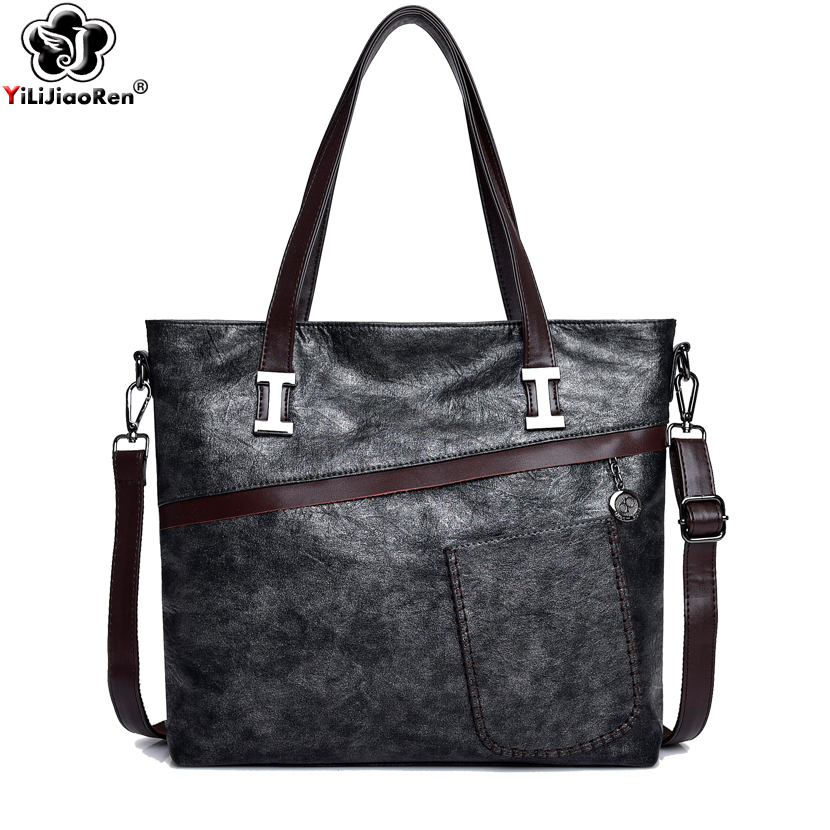 Luxury Handbags Women Bags Designer Large Capacity Ladies hand bag Famous Brand Leather Crossbody Bags for Women 2019 Sac A Main in Top Handle Bags from Luggage Bags