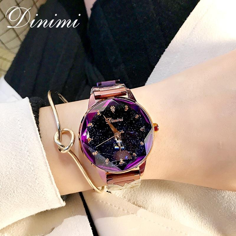 Dimini mode de luxe femmes montres dame montre or Quartz montre-bracelet en acier inoxydable dames montres cadeaux présent Dropshippin - 6