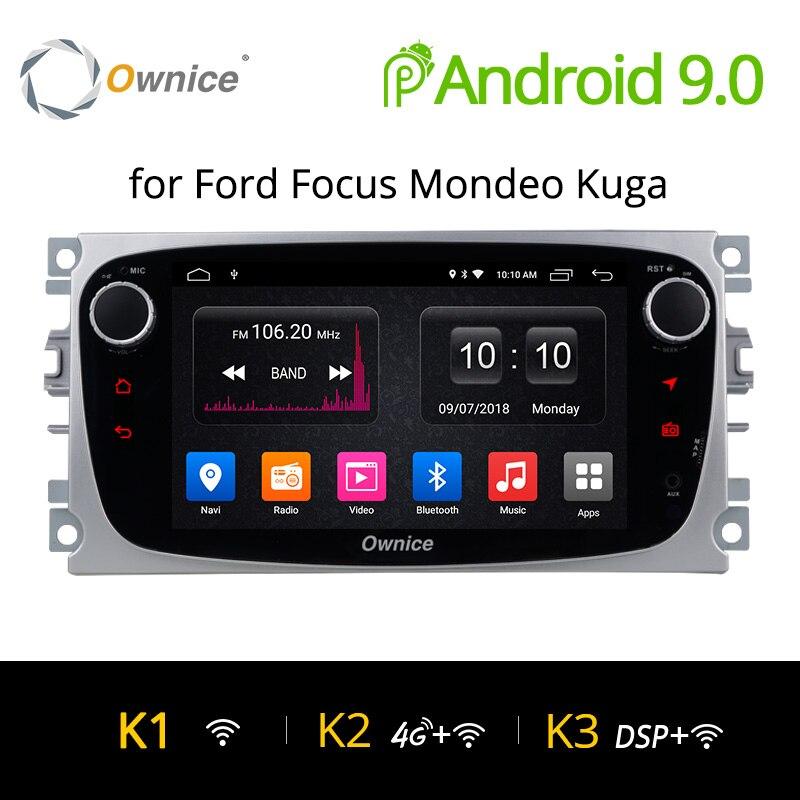Ownice K1 K2 Android lecteur DVD de voiture 2 Din radio GPS Navi pour Ford Focus Mondeo Kuga C-MAX S-MAX Galaxy Audio stéréo unité de tête