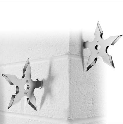 Стены металлический крючок Вешалка Новинка Домашний Декор звезда Дарт Форма ниндзя Прохладный Нержавеющаясталь одежда поставки