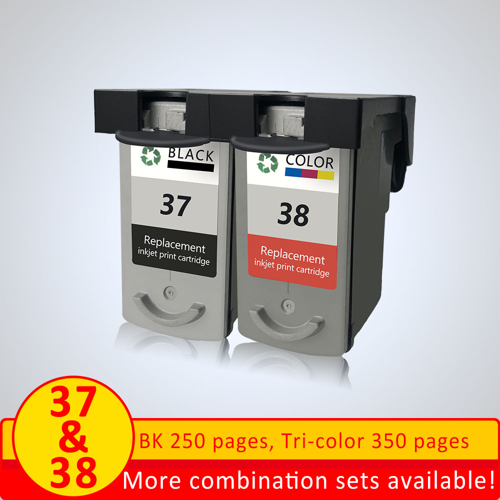 XiangYu Refilled Ink Cartridges PG37 CL38 for <font><b>Canon</b></font> <font><b>PG</b></font> <font><b>37</b></font> CL 38 forPIXMA MP420 IP1800 IP2600 MX300 MX310 printer image