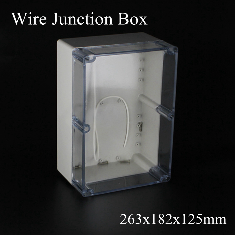 IP65 263x182x125mm Clear Cover ABS Transparent Plastic Electronic Project Waterpoof Wire Junction Box Sealed Enclosure CaseIP65 263x182x125mm Clear Cover ABS Transparent Plastic Electronic Project Waterpoof Wire Junction Box Sealed Enclosure Case