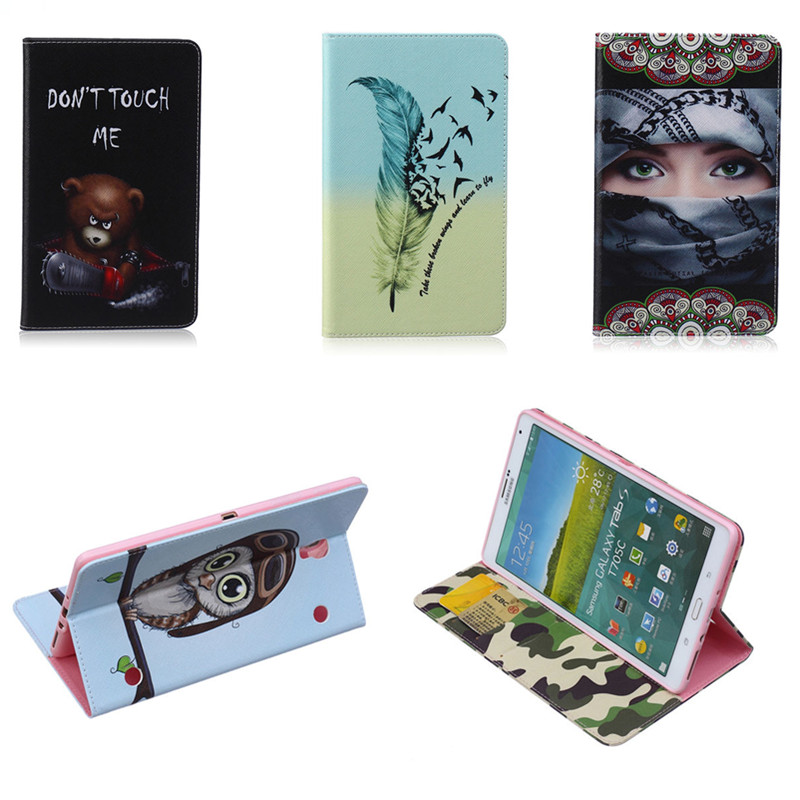BF Case For samsung Galaxy tab S 8.4 inch SM-T700 Luxury Cute cover Painting Style PU leather for T705C T705 SM-T705C tablet
