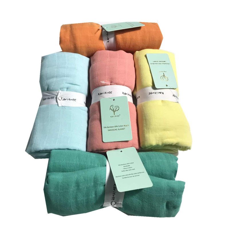 Pure Baby Swaddle Blankets Muslin Blanket Diaperbamboo Cotton Newborn Baby Bath Towel Swaddle Blankets MultiFunctions Baby Wrap