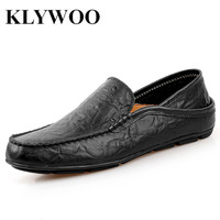 KLYWOO British Leather Men Shoes Luxury Brand Penny Loafers Italian Fashion Designer Shoes Men Casual Flats