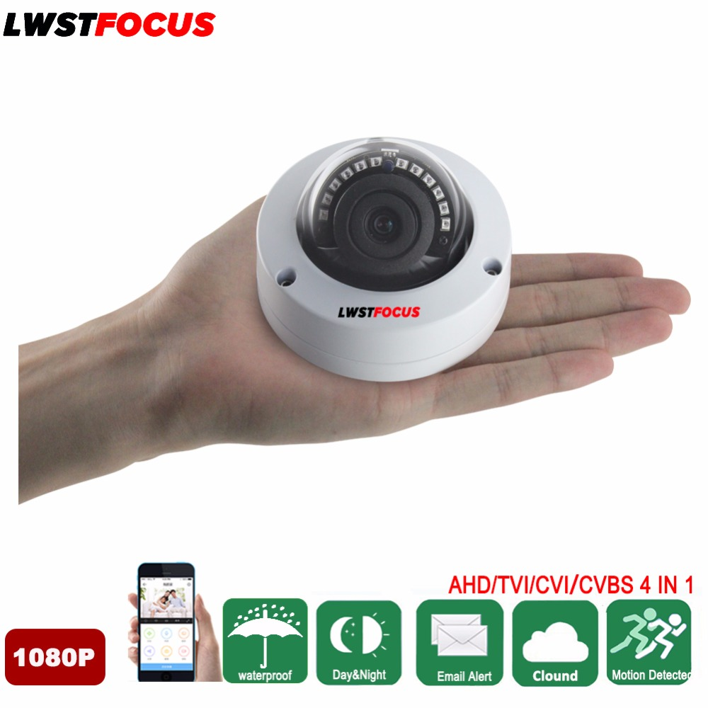 LWSTFOCUS AHD 2MP Vandalproof Mini 1080P AHD Dome Camera 1080P Surveillance Waterproof Outdoor Indoor Camera Night Vision IR Cut 4 in 1 ir high speed dome camera ahd tvi cvi cvbs 1080p output ir night vision 150m ptz dome camera with wiper