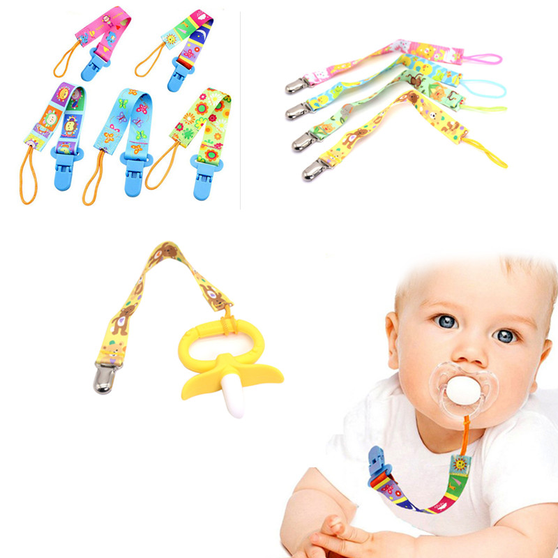 New Baby Pacifier Clip Pacifier Chain Dummy Clip Nipple Holder For Nipples Child Pacifier Clip Soother Holder Newborn Baby Chain