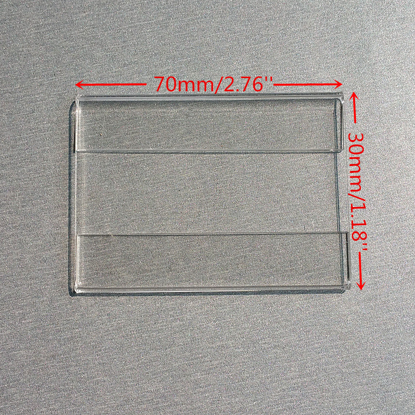 7x3cm Acrylic T1.2mm Plastic Sign Price Tag Label Display Wall Sticker Paper Promotion Name Card Holders 1000pcs Good Quality