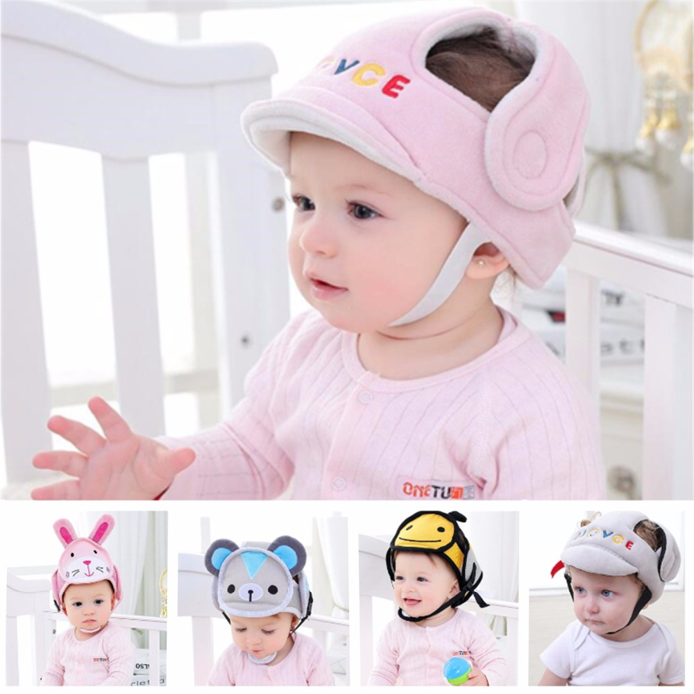 1* Infant Toddler Safety Helmet Baby Kid Head Protect Hat Walking Craw Durable