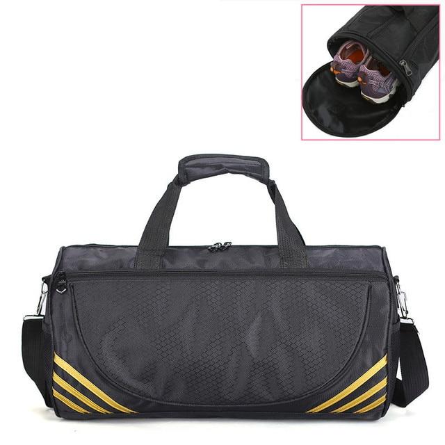 Ucuz spor spor çanta kadın erkek spor Yoga için naylon spor seyahat eğitim Ultralight spor ayakkabı küçük Sac De spor çantası