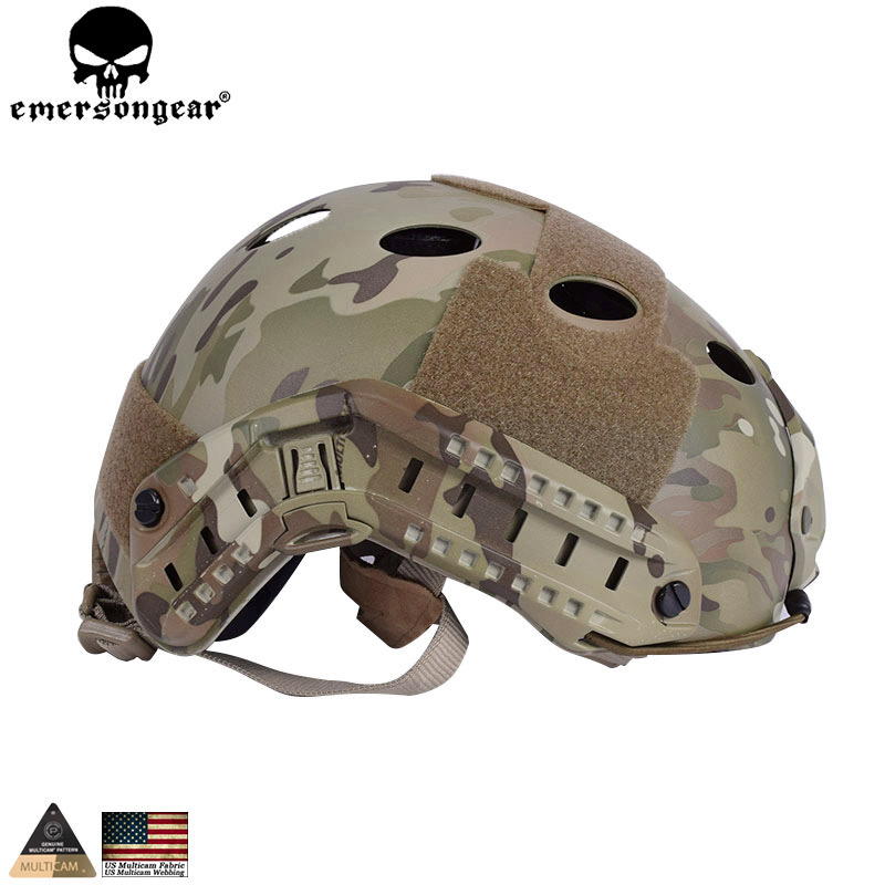 EMERSONGEAR Fast Helmet PJ type Tactical Adjustable Protective Helmet For Airsoft Paintball Hiking Cycling Multicam EM5668 high stretch boots denim over the knee boots shoes woman thigh high boots ripped distressed denim jeans open peep toe heels