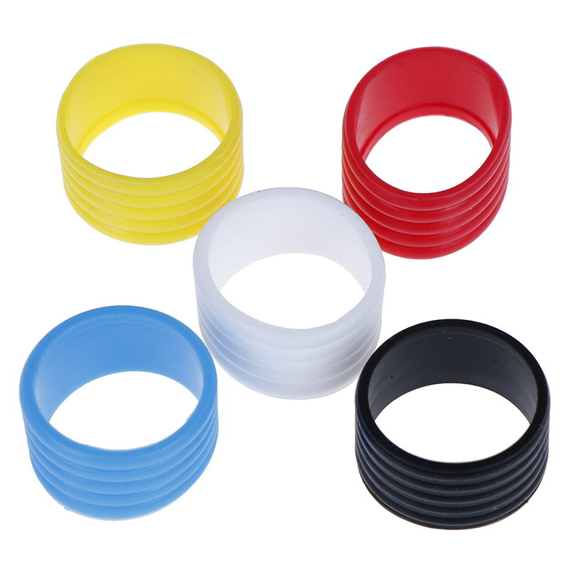 4pcs Stretchy Tennis Racket Handle's Rubber Ring Tennis Racquet Band Overgrips