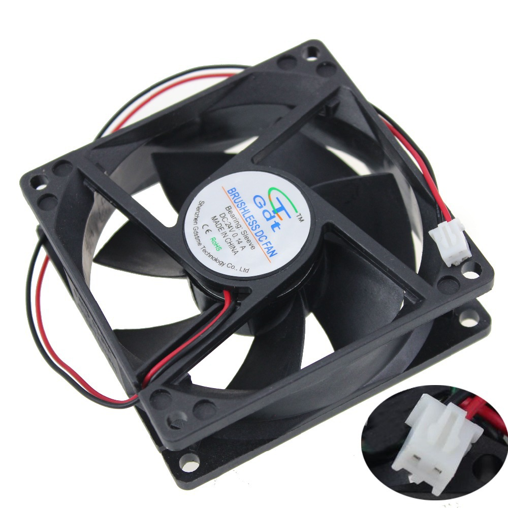 Купить с кэшбэком 5pcs/Lot Durability GDT 24volt 80MM Cooling Fan Cooler 8cm 80MM*80MM*25mm 8025S