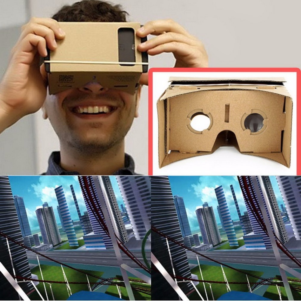 DIY Ultra Clear for Google Cardboard VR BOX Virtual Reality 3D Glasses for Samsung Smart Phone computer VR headset