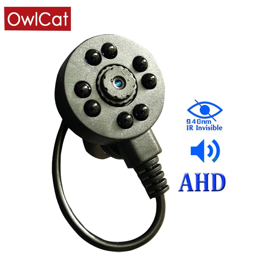 OwlCat Mini AHD Camera HD 720P Video Surveillance Camera 1.0MP with Microphone Audio 3.7mm LensOwlCat Mini AHD Camera HD 720P Video Surveillance Camera 1.0MP with Microphone Audio 3.7mm Lens
