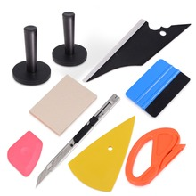 FOSHIO Vinyl Vehicle Wrap Film Squeegee Scraper Sticker Magnet Holder Fixer Window Foil Tint Knife Safety Cutter Tool Set