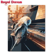 Piano and bird DIY Painting By Numbers Acrylic Paint HandPainted Oil On Canvas For Living Room Wall Art