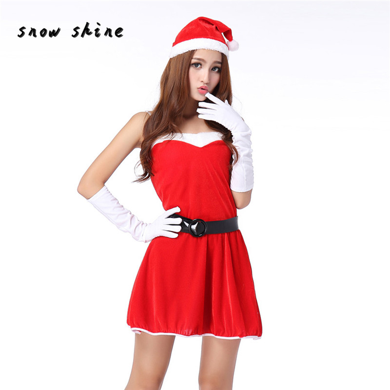 snowshine #3065  Women Sexy Santa Christmas Costume Fancy Dress Xmas Office Party Outfit   free shipping
