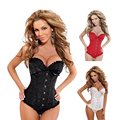 Women corset slimming shaper waist cincher trainer corset bustier top fast Shipping plus size corsets and bustiers satin corset