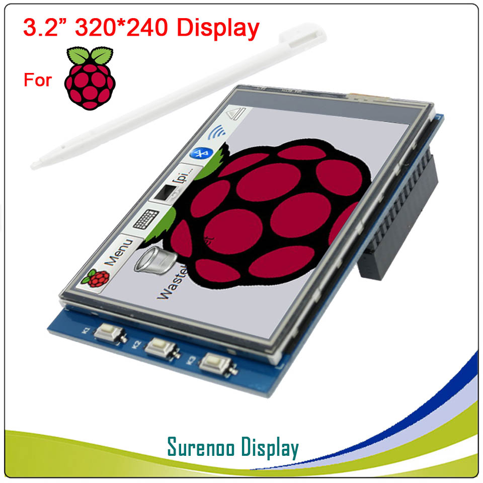<font><b>3.2</b></font> inch 320*240 <font><b>Touch</b></font> Panel <font><b>TFT</b></font> <font><b>LCD</b></font> Module <font><b>Screen</b></font> Display for Raspberry Pi 3 / 2 / 1 GPIO Input image