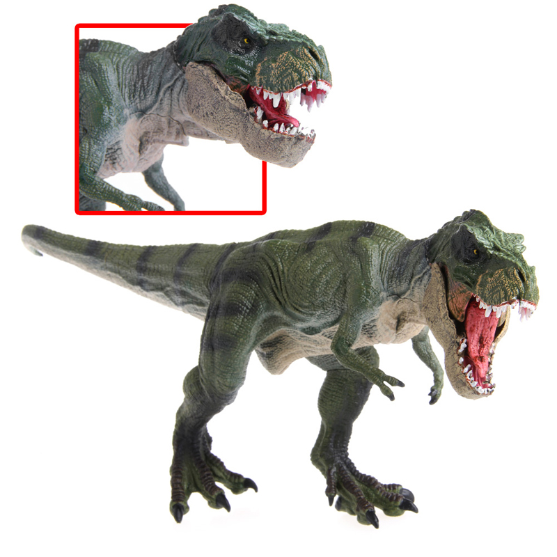 New 1Pc Jurassic World Park Tyrannosaurus Rex Dinosaur Plastic Toy Model Kids Gifts 2 sets jurassic world tyrannosaurus building blocks jurrassic dinosaur figures bricks compatible legoinglys zoo toy for kids