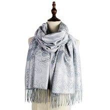 tippet scarf women woven shawl fashion capes jacquard pashmina winter kashmir paisley hijab femme muffler stole mujer wrap