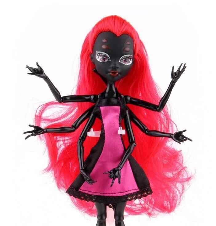 Высокое качество модные куклы-монстры Дракулаура/Клодин Вульф/с изображением героев мультфильма «/Черная Вдова-паук подвижные средства ухода за кожей для девочек, игрушки в подарок