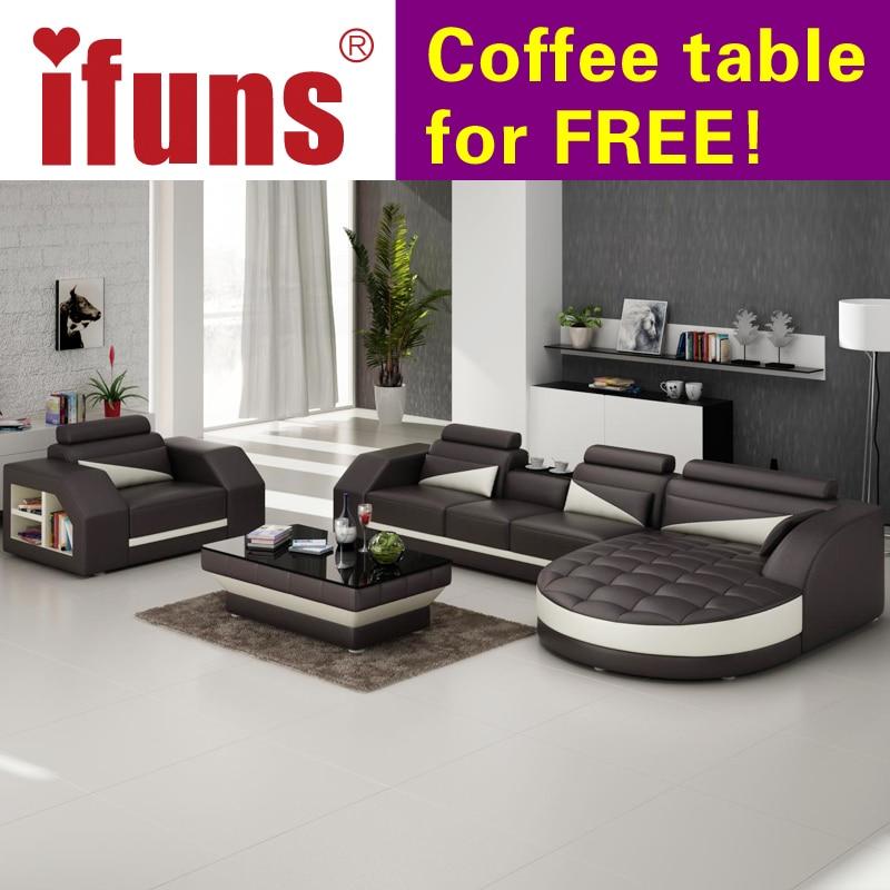 Amerikaanse Leren Bank.Ifuns Designer Hoekbank Bed Europese En Amerikaanse Stijl Sofa