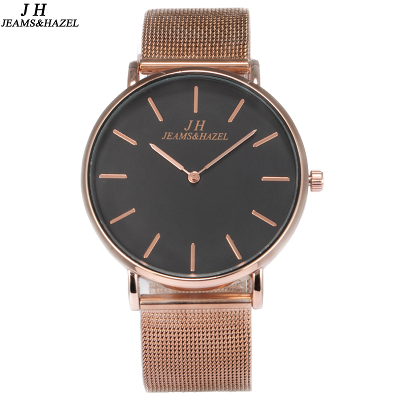 stitch aaliyah rose strap gold products watches steel mesh and dial s watch large big