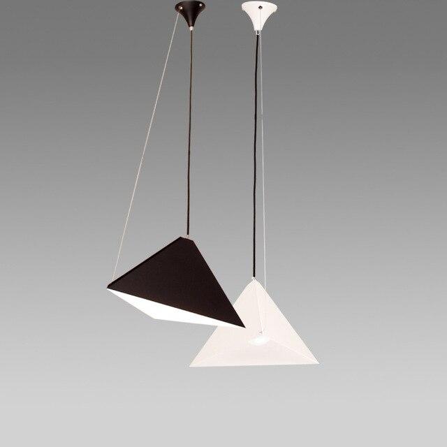 Moderne Schwarz/Weiß Pendelleuchte Geometrie Hängelampe Eisen Insel  Deckenleuchten Für Küche/Esszimmer/Studie