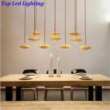 Creative HOT Modern Handmade Ash Wood 10 Hheads Pendant Light For Living Room Dining Room Restaurant AC 80-265V 1221