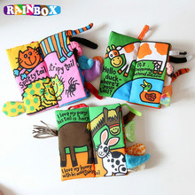 Baby Animal Style Cute New Infant Kids Early Development Soft Cloth Books Learning Education Unfolding Activity
