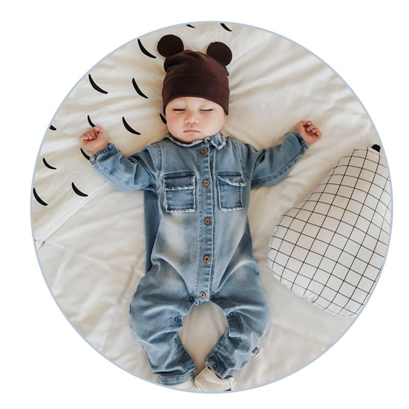 רך ג 'ינס בייבי רומפי גרפיטי תינוקות בגדי תינוקת ילדות תינוקות בנים בנות תלבושות קאובוי אופנה ג' ינס ילדים rompers