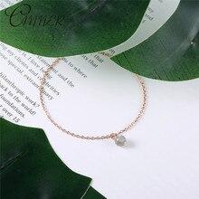 CANNER 925 Sterling Silver Bracelets for Women Everyday Jewellery Moonstone Pendant Charm Bracelet Femme Wedding Gift Pulseras