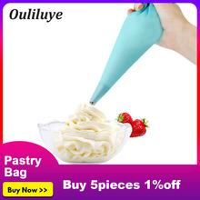 New 1pcs Kitchen Pastry Tools Reusable Silicone Cake Decorating Bag Dessert Icing Piping Decorators Bags