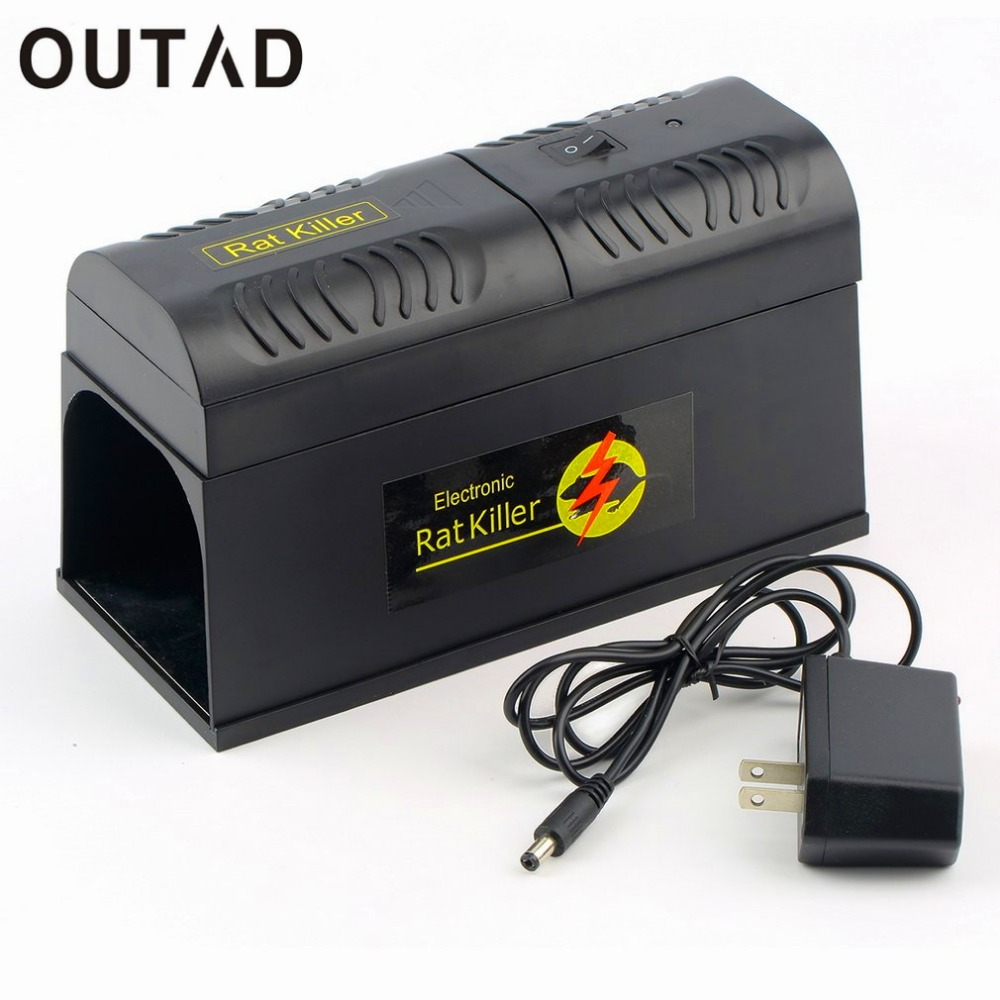 OUTAD Electronic Rat Trap Mice Mouse Rodent Killer Electric Shock US Plug Adapter High Voltage Repeller Zapper Pest Control