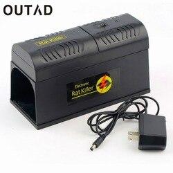 Outad eletrônico rato armadilha ratos rato roedor assassino choque elétrico eua plug adaptador de alta tensão repeller zapper controle de pragas