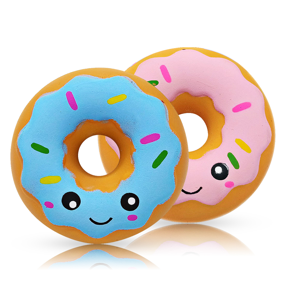 Squishy Donut Antistress Jumbo Squishe Novelty Gag Toys Stress Relief Surprise Anti Stress Fun Squeeze Toys Gags Practical Jokes