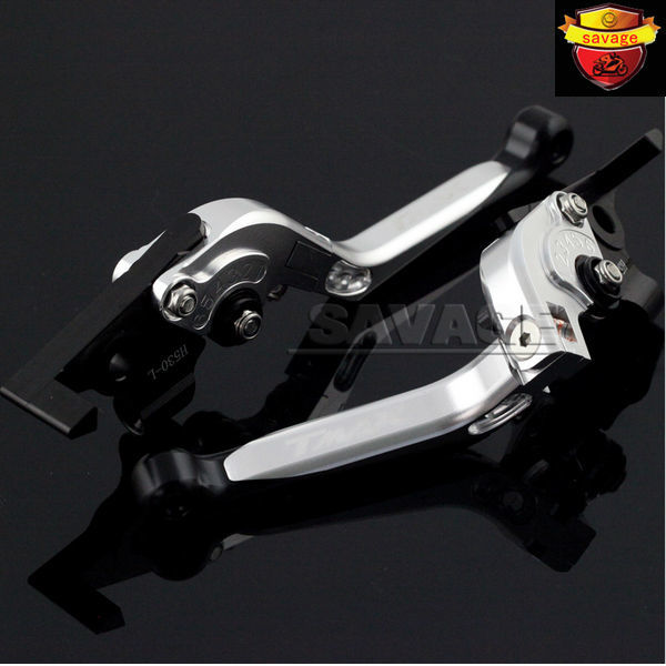 For YAMAHA XP 530/500 T-MAX TMAX530 TMAX500 Silver Motorcycle CNC Aluminum Folding Extendable Brake Clutch Levers logo TMAX