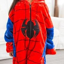 Photography Kid Boys Girls Party Clothes Pijama Flannel Pajamas Child Pyjamas Hooded Sleepwear Cartoon Animal Spider