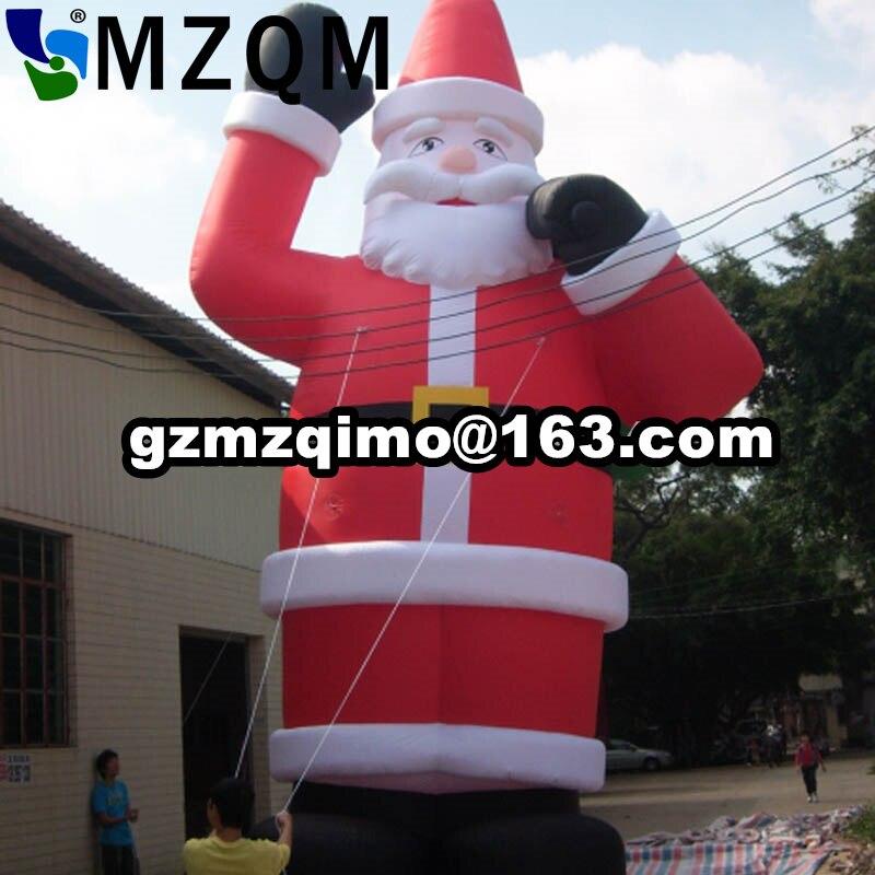 Mzqm 2017 Новый огромный коммерческий Airblown 30ft гигантские надувные Санта Клаус xma украшение партии + 1 ce/ul Воздуходувы + ремонт детей