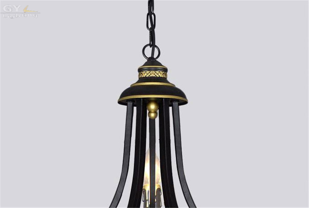 Ac110 220v lustres wrought iron pendant light fixture modern 8 ac110 220v lustres wrought iron pendant light fixture modern 8 lights suspension lamp vintage hanging new arrival drop lustre in pendant lights from lights aloadofball Image collections