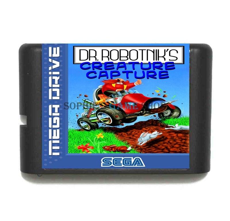 Dr. Robotniks Creature Capture Game Cartridge Newest 16 bit Game Card For Sega Mega Drive / Genesis System