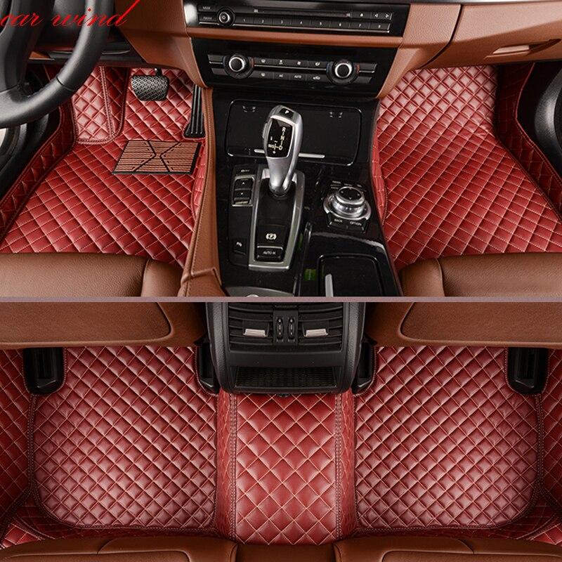 Car wind leather car floor mat for Audi Q5 Q7 toyota land cruiser prado 150 peugeot 308 skoda superb rug Carpets car accessories