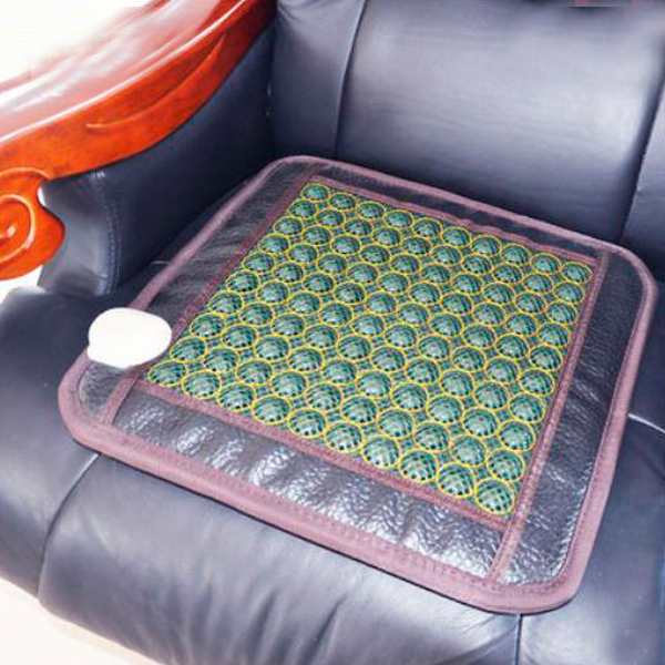 Best Quality! Natural Tourmaline Physical Therapy Mat Jade Health Care Pad Infrared Heat Cushion!50cmX50cm Free Shipping best selling korea natural jade heated cushion tourmaline health care germanium electric heating cushion physical therapy mat