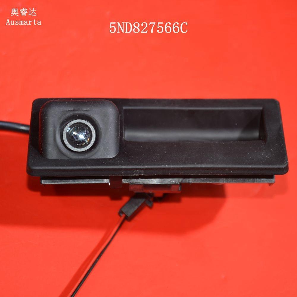 Superior quality 12V Parking RGB Reversing Video Camera For VW Tiguan A4 A6 Q5 RNS510 RCD510 5ND 827 566 C  5ND827566C tuke rns310 rns315 rcd510 rns510 oem vw tiguan connect the electric wire reversing camera module