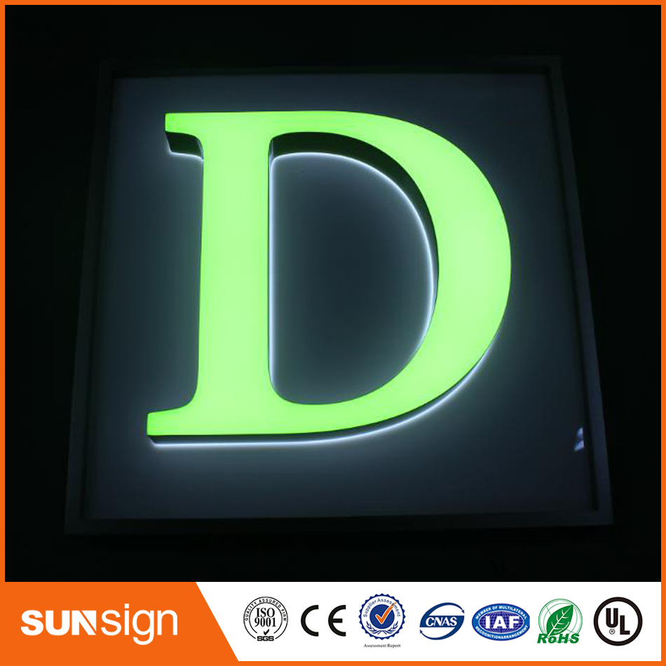 Manufacture front light channel letters custom signsManufacture front light channel letters custom signs