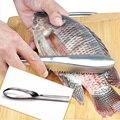 Нож для очистки рыбы из нержавеющей стали  щетка для очистки кожи рыбы  очиститель  скребок  кухонный гаджет  инструменты для очистки морепр...