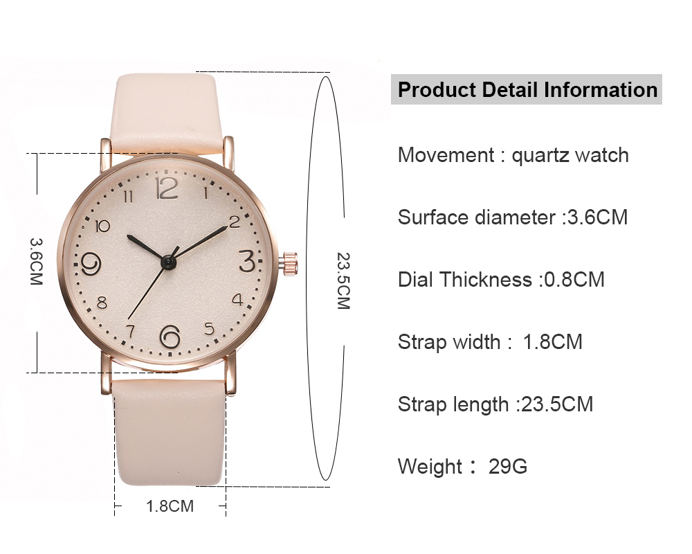 Top Style Fashion Women's Luxury Leather Band Analog Quartz WristWatch Golden Ladies Watch Women Dress Reloj Mujer Black Watch perferct gift for women www.prettybuyers.com